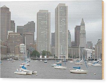 Boston Harbor  Wood Print