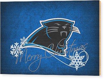 Carolina Panthers Wood Print by Joe Hamilton