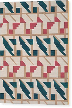 Design From Nouvelles Compositions Decoratives Wood Print by Serge Gladky