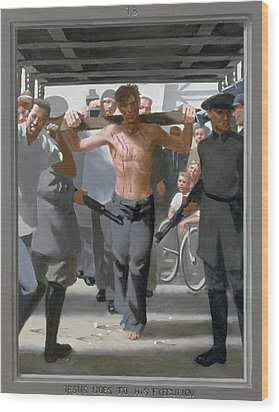 13. Jesus Goes To His Execution / From The Passion Of Christ - A Gay Vision Wood Print by Douglas Blanchard