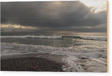 Kinard Beach Wood Print by Barbara Walsh
