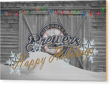 Milwaukee Brewers Wood Print by Joe Hamilton