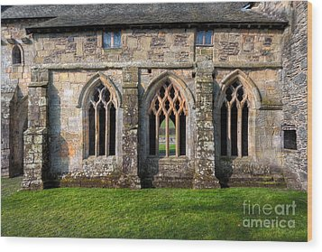 13th Century Abbey Wood Print by Adrian Evans