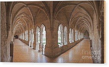 13th Century Gothic Cloister Wood Print by Jose Elias - Sofia Pereira