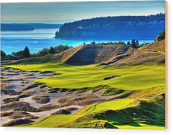 #14 At Chambers Bay Golf Course - Location Of The 2015 U.s. Open Tournament Wood Print