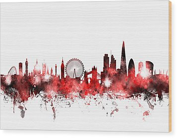 London England Skyline Wood Print by Michael Tompsett