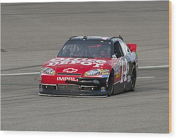 14 Tony Stewart Car Wood Print by Kevin Cable