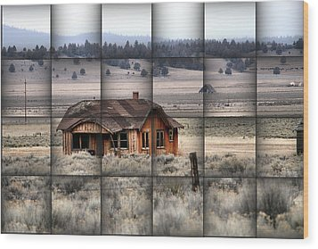 140 Homestead Weave Wood Print by Ray Finch