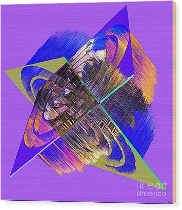 1422 Abstract Thought Wood Print by Chowdary V Arikatla