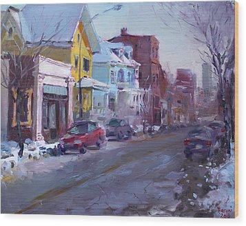 149 Elmwood Ave Savoy Wood Print by Ylli Haruni