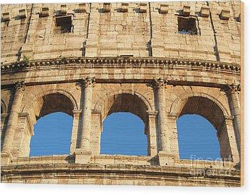 Colosseum In Rome Wood Print by George Atsametakis
