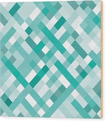 Geometric Wood Print by Mike Taylor