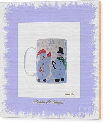 Happy Holidays. Wood Print