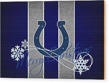 Indianapolis Colts Wood Print by Joe Hamilton