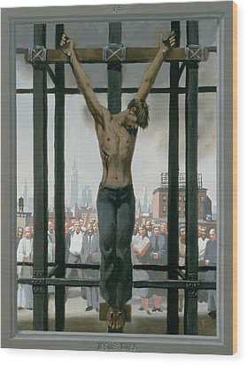 15. Jesus Dies / From The Passion Of Christ - A Gay Vision Wood Print by Douglas Blanchard