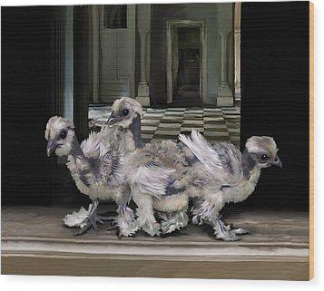 15. Lizard Chicks Wood Print