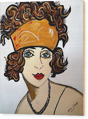 Art Deco  Hilda Wood Print