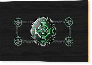 Celtic Cross Wood Print by Ireland Calling