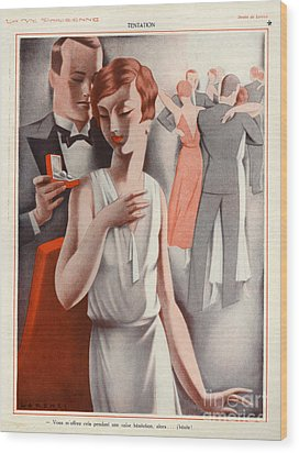 La Vie Parisienne 1920s France Cc Wood Print by The Advertising Archives