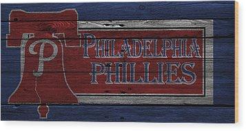 Philadelphia Phillies Wood Print by Joe Hamilton