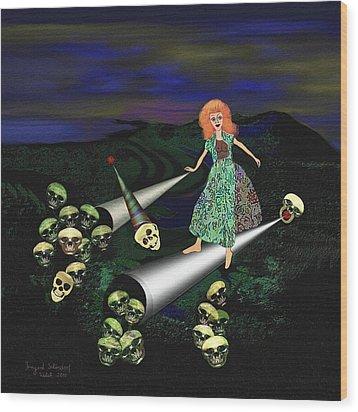 165 -   Lindas Nightwalk Wood Print by Irmgard Schoendorf Welch