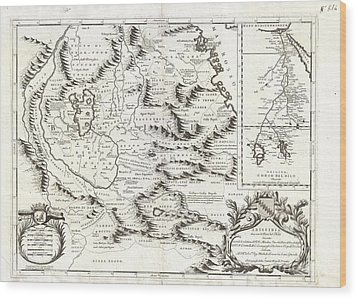 1690 Coronelli Map Of Ethiopia Abyssinia And The Source Of The Blue Nile Wood Print by Paul Fearn