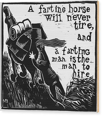 American  Proverbs Wood Print by Mikhail Zarovny