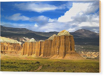 Capitol Reef National  Park Cathedral Valley Wood Print