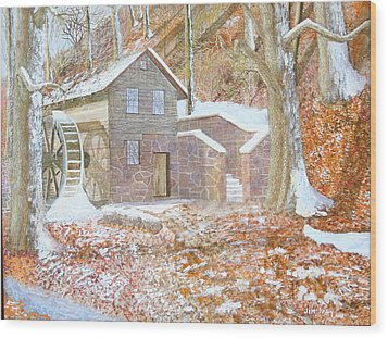17 Centry Ghrist Mill Wood Print by Jim Ivey