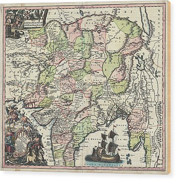 1740 Seutter Map Of India Pakistan Tibet And Afghanistan Wood Print by Paul Fearn