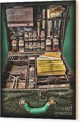 1800's Fingerprint Kit Wood Print by Lee Dos Santos