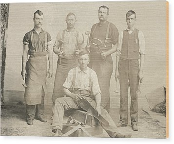 1800's Vintage Photo Of Blacksmiths Wood Print