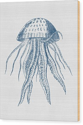 1844 Octopus Ink Drawing Wood Print by Aged Pixel