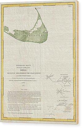 1846 Us Coast Survey Map Of Nantucket  Wood Print by Paul Fearn