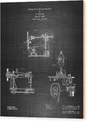 1885 Singer Sewing Machine Wood Print
