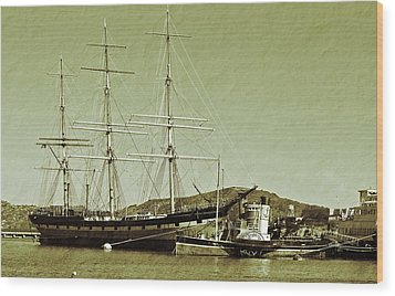1886 Balclutha Wood Print by Holly Blunkall