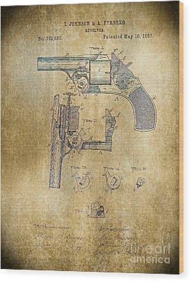 1887 Revolver Wood Print by Steven Parker