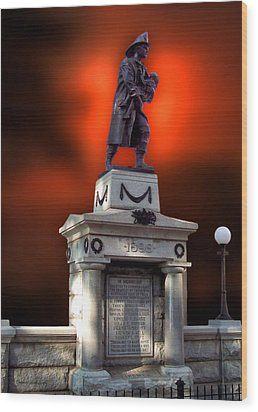 1898 Firemen Memorial St Joes Michigan Wood Print by Thomas Woolworth