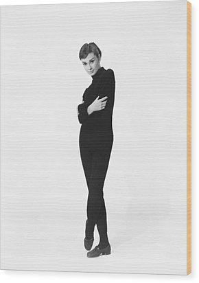 Audrey Hepburn Wood Print by Silver Screen