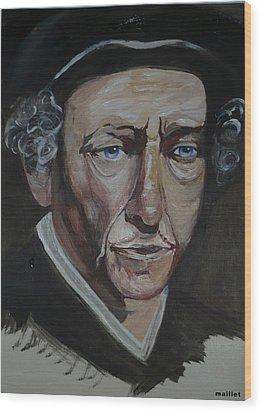 Bob Dylan Wood Print by Laurette Maillet