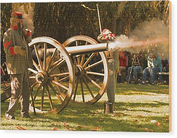 Cival War Reenactment At The Shadows On The Teche New Iberia Louisiana Wood Print
