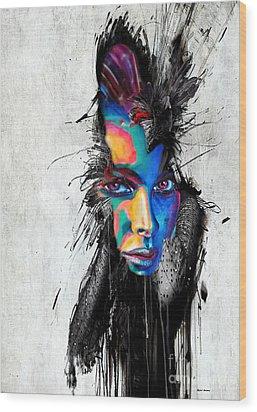 Facial Expressions Wood Print