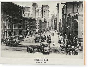 1900 Wall Street New York City Wood Print