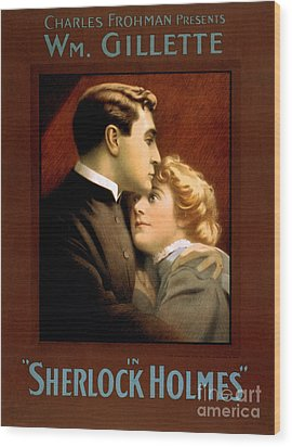 1900s Uk Sherlock Holmes Poster Wood Print by The Advertising Archives