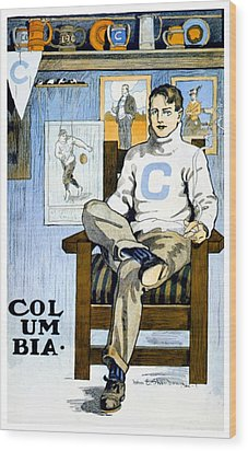 1902 - Columbia University Sports Poster - Color Wood Print