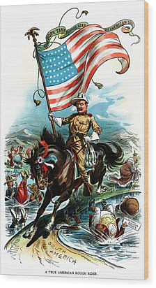 1902 Rough Rider Teddy Roosevelt Wood Print by Historic Image