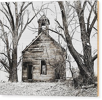 1904 School House Memory Wood Print by Sonya Lang