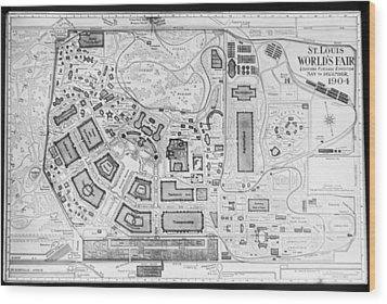 1904 Worlds Fair Fair Grounds Map Wood Print
