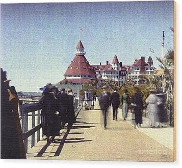1906 Del Boardwalk Wood Print