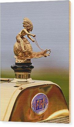 1911 Fiat Tipo 6 Holbrook 4 Passenger Demi-tonneau Hood Ornament Wood Print by Jill Reger